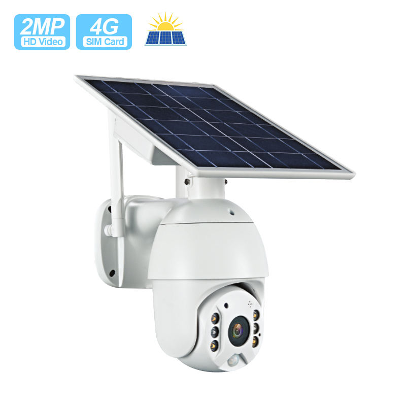 Motion Tracking IP 2MP 1080P Nirkabel Kartu SIM 4G Dome Zoom WIFI Solar Battery Kamera CCTV Outdoor