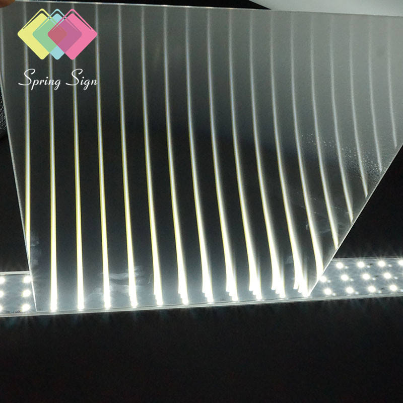Spring sign acrylic lgp backlight light guide plate acrylic sheet for led panel light