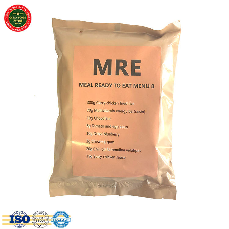 MRE food and beverage instant food and rice