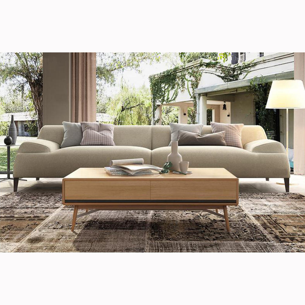 New Design Fashion Modern Italy Fabric Big 3 Seater Sofa