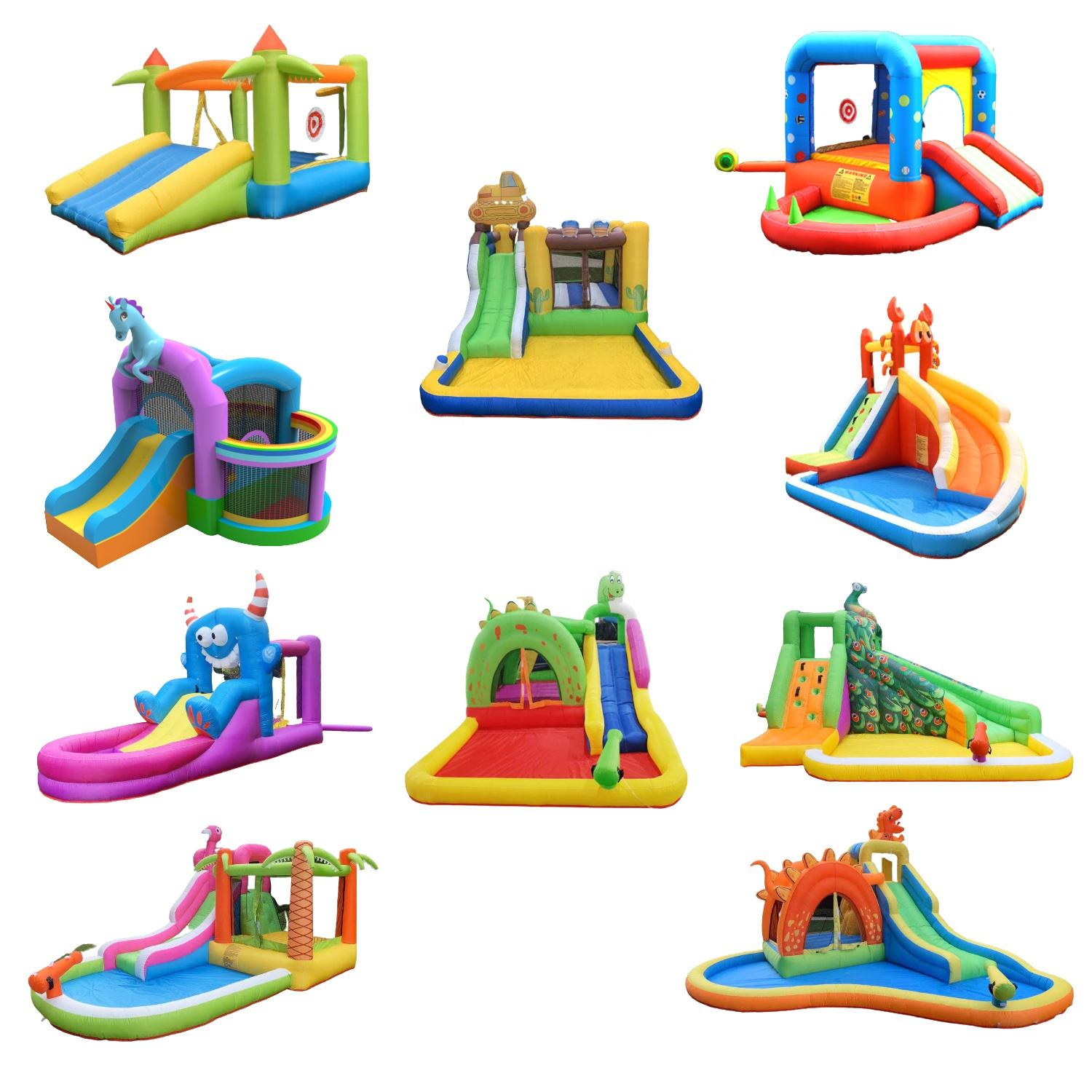 toboggan gonflable Backyard Commercial Kids Castle Bouncy Jumping Bounce House Water Slide With Swimming Pool Inflatable Bouncer