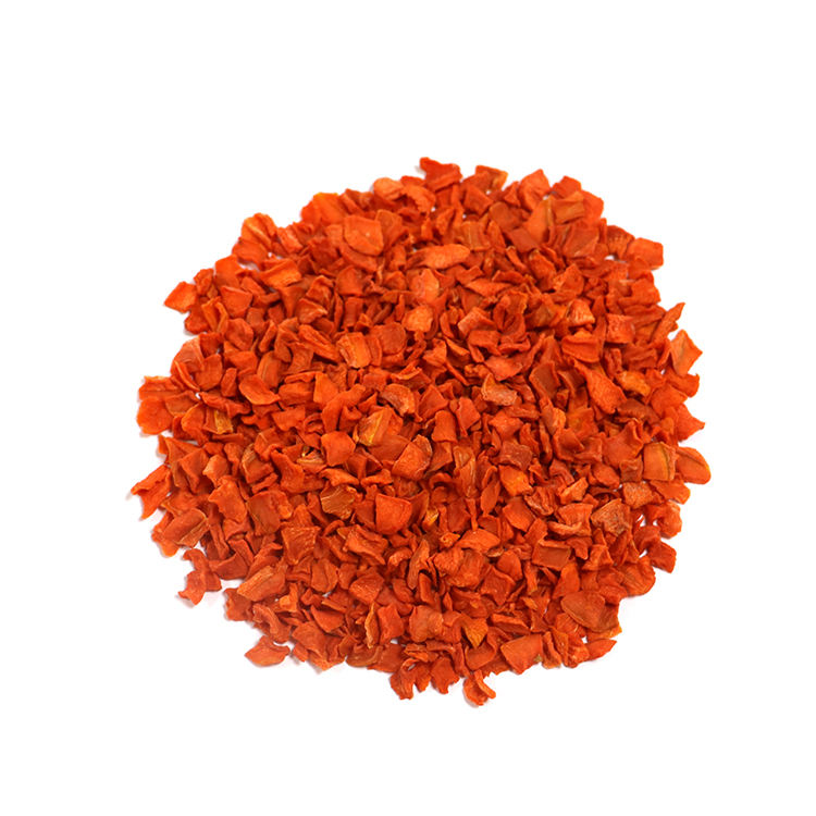 Factory Directly Supply Good Quality 10*10*3mmAir Dried Carrot Dried Vegetables