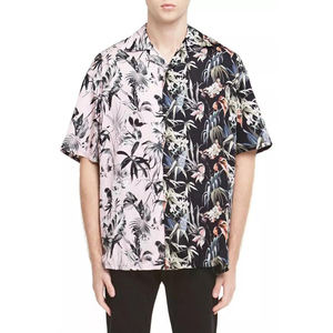 Aangepaste Over Bloem Sublimatie Printing Button Up Shirts