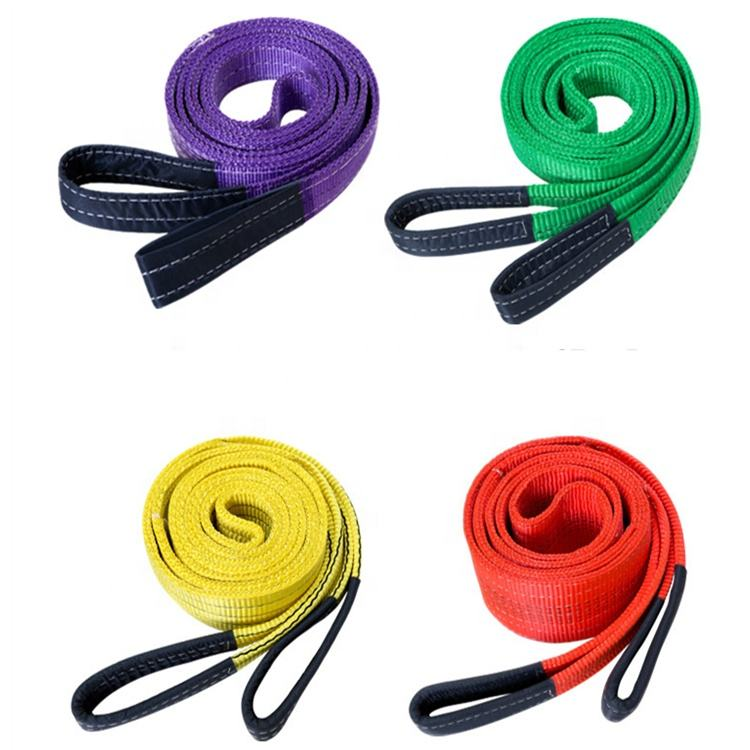 1m 2m 3m 4m 5m 6m 8m 9m 10m 12m 3 ton lifting belt crane endless nylon round sling color code webbing sling