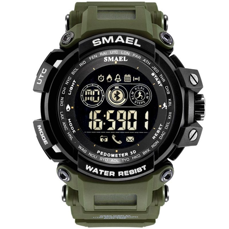 Men Digital Wristwatches LED Display SMAEL Watch For Male Digital Clock Men Sport Watches Big Dial 8018 Waterproof Men Watches