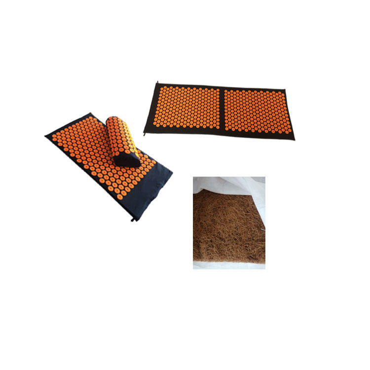 Stress Pain Relief New Design Massage Spike Coconut Acupressure Mat Yoga