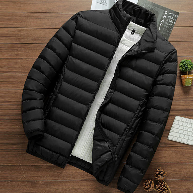 JACKETOWN Winter Jacket Mens 2020 Cotton Padded Warm Thick Jacket Stand Collar Male Solid Parka Coat Sale 5XL