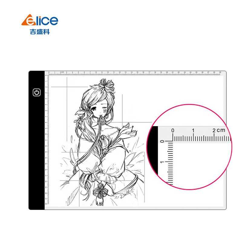 Artist A4 Slim LED Art Stencil Board Light Box Backlit Tracing Table Tattoo Lightpad for Drawing, Sketching