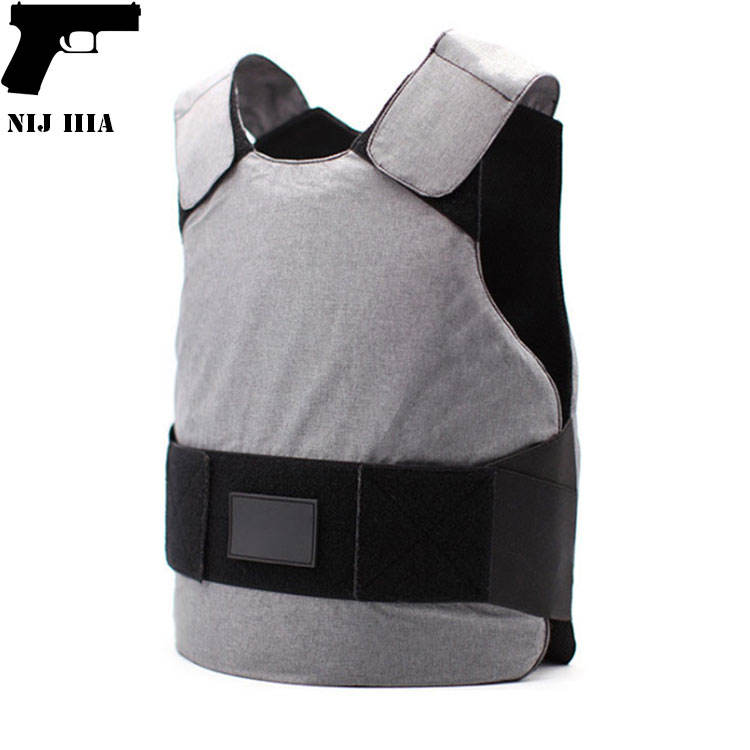 hot GUJIA NIJ IIIA white PE Aramid full suit under armour Custom Concealable Soft bulletproof vest body armor for Security