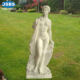 Beauty Colorful Marble Stone Carved Sitting Naked Girl Statue | Nude Girl Sculpture