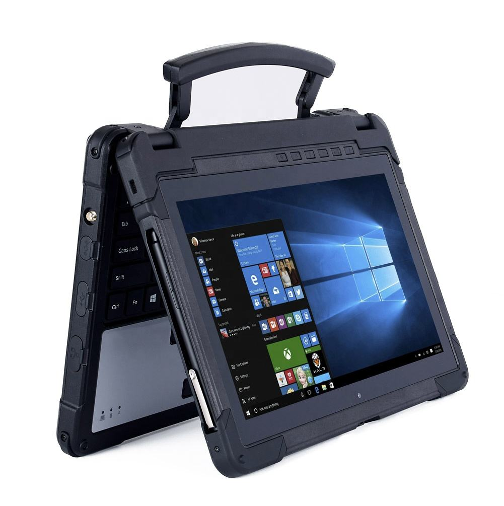 HiDON Cheapest New windows system 11.6'' rugged tablets 4Gram DDR3 + 128G SSD Medical Laptop with GPS NFC IP65 rugged Computer