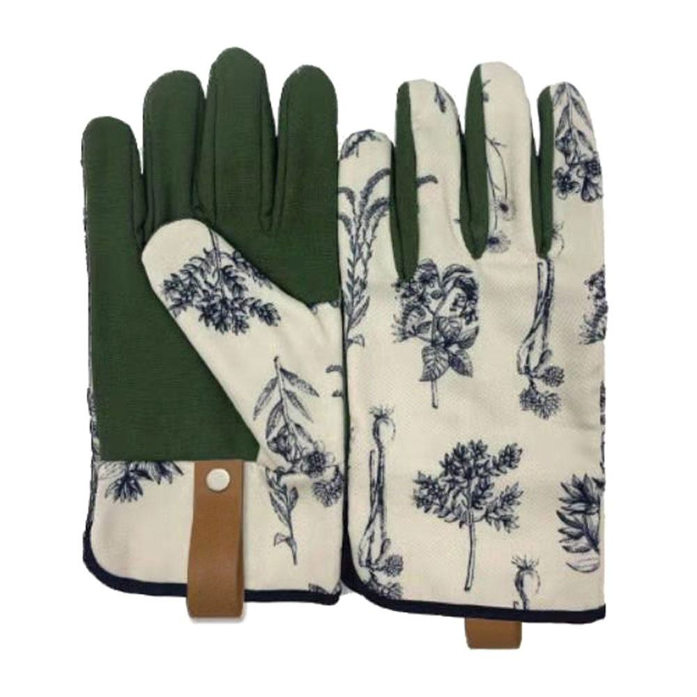 Flower pattern printed garden working gloves with or without lining