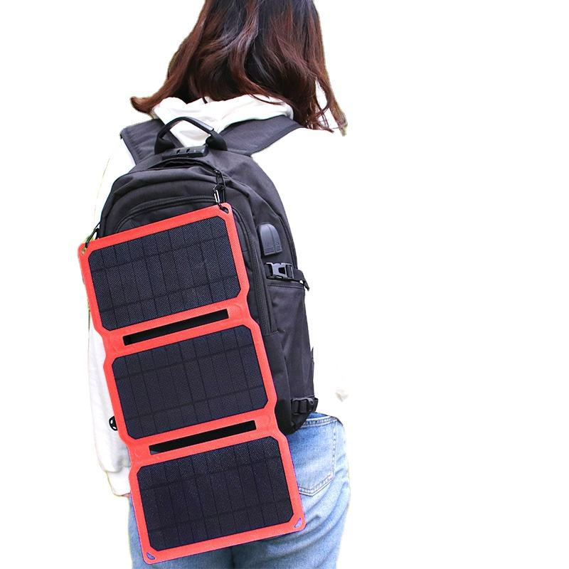 15w portable multi purpose 5v etfe foldable outdoor solar charger