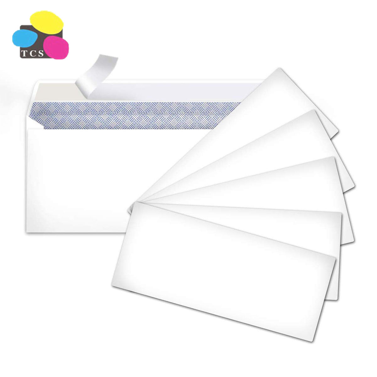 2019 Universal 500pcs/box Wallet self seal 80gsm FSC paper Envelope with window