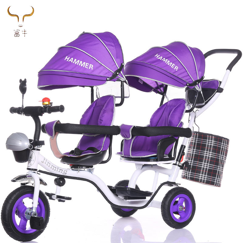 2019 Hot sale factory wholesale baby twins tricycle/children tricycle two seats/baby double seat trike for sale with cheap price