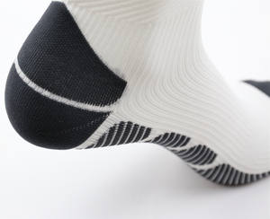 Custom White Sports Fancy Sock Womens Compression Socks