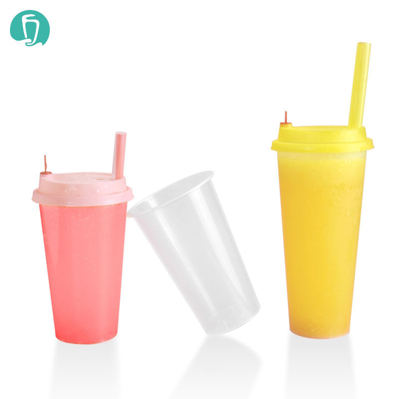 500ml PP injection custom printed boba tea bubble tea disposable pp milk tea cups
