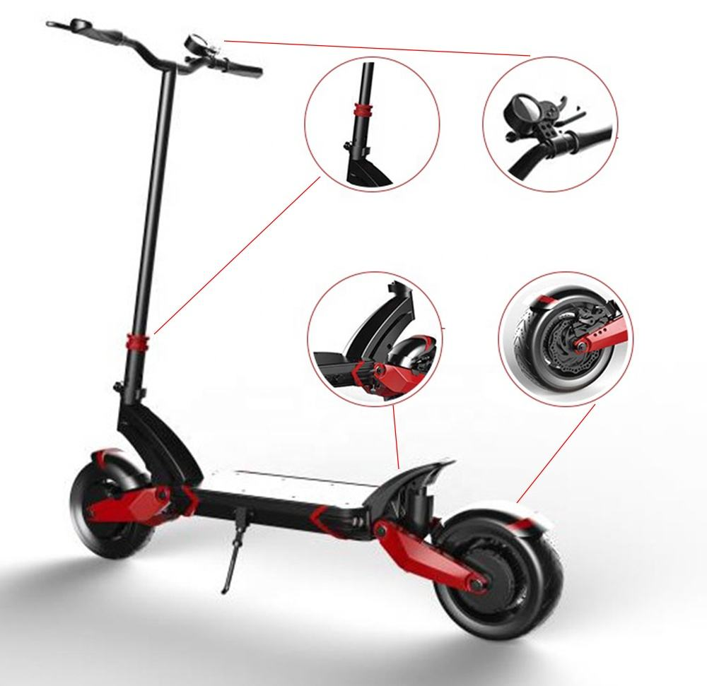High performance dual motor zero 10x 1000W 52V 18Ah electric scooter