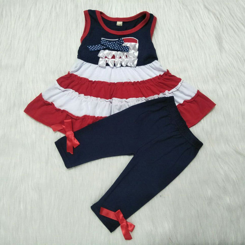 Girl Boutique remake clothing set summer baby outfit wholesale children's clothing set toddler girl boutique outfit baby clothes