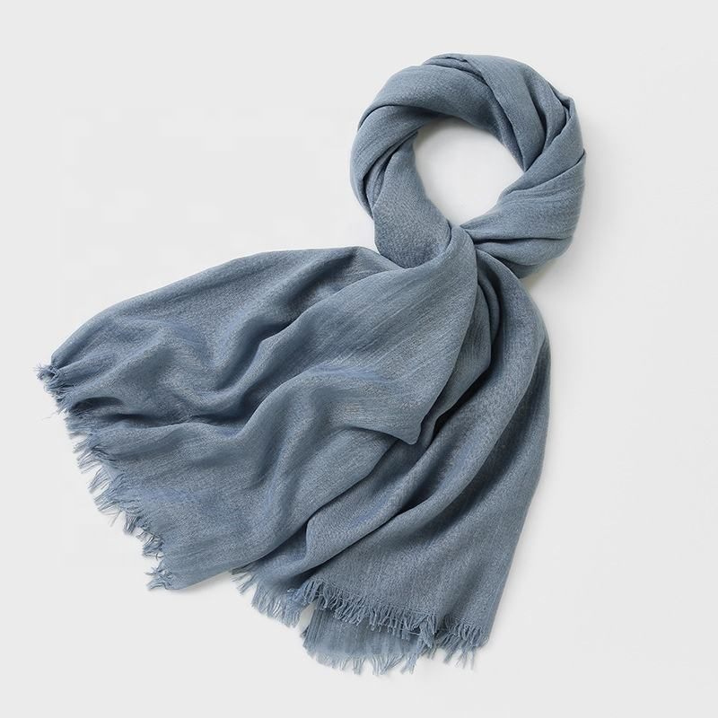 Solid Color Artificial Cotton Scarf Female Scarf Outdoor Travel Sunscreen Beach Towel Shawl Scarf For Women
