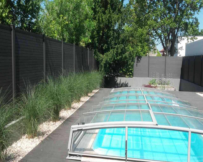 Waterproof WPC garden fence,WPC privacy fence,wood plastic composite like plastic fence