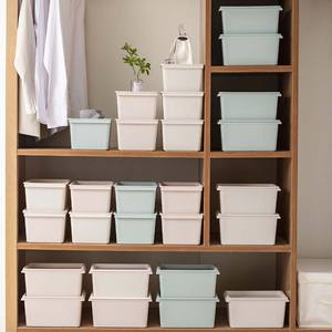 Small Stackable Plastic Underwear Storage Box Organizer with Lids Plastic