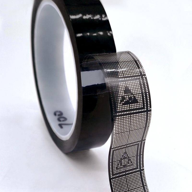 36m Custom ESD Conductive Grid Tape, Black OPP Anti Static Adhesive Tape For Electronic Components Parts