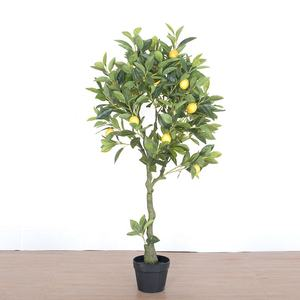 China Factory direct sale eco-friendly indoor plastic lemon tree decorative artificial lemon tree