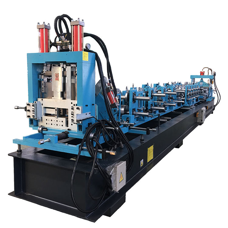 Quick change with PLC control Steel CZ Purlin Roll Forming Machine