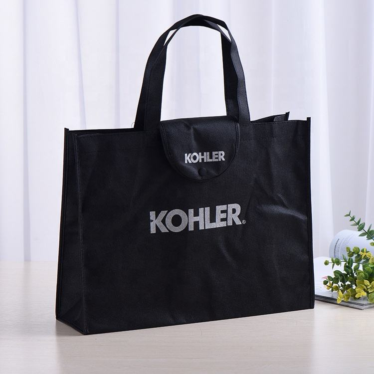 Strong Eco Custom Non Woven Grocery Spunbond TNT Tote Carry Ecological Reusable Supermarket Shopping Bag