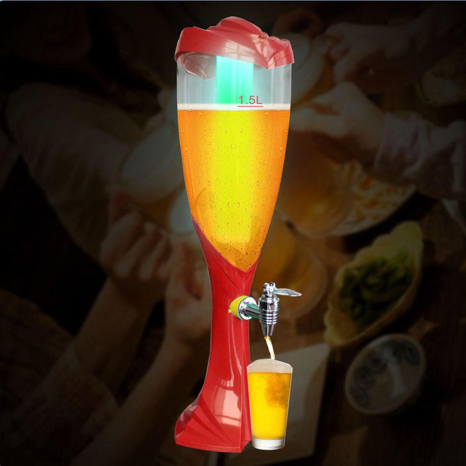 Color Blue Size 1 5 Liters 1 5l 2l 3l Colorful Luminous World Cup Beer Barrel Wine Column Wine Tower Wine Bar