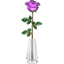 HBL Crystal Rose For Crystal Anniversary, Romantic Gifts For Her Wife Christmas Valentine's Day Birthday With Crystal Vase