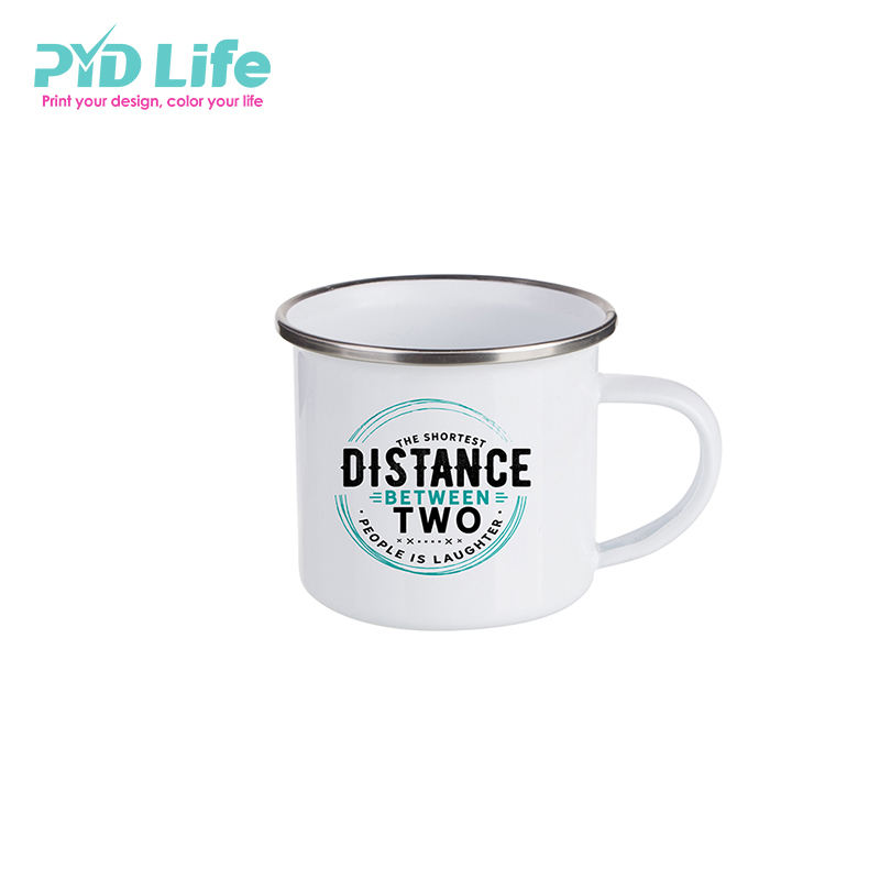 Newest Small Size 6oz/180ml Enamel Mug Promotional Mug Coffee Metal Mugs With Custom Logo Stocked