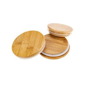 Wholesale bamboo wood lid cap for candle jar