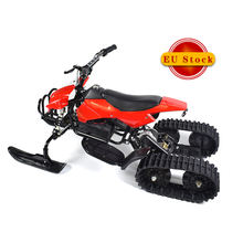 rubber ski double tracks electric scooter snow mobile for children
