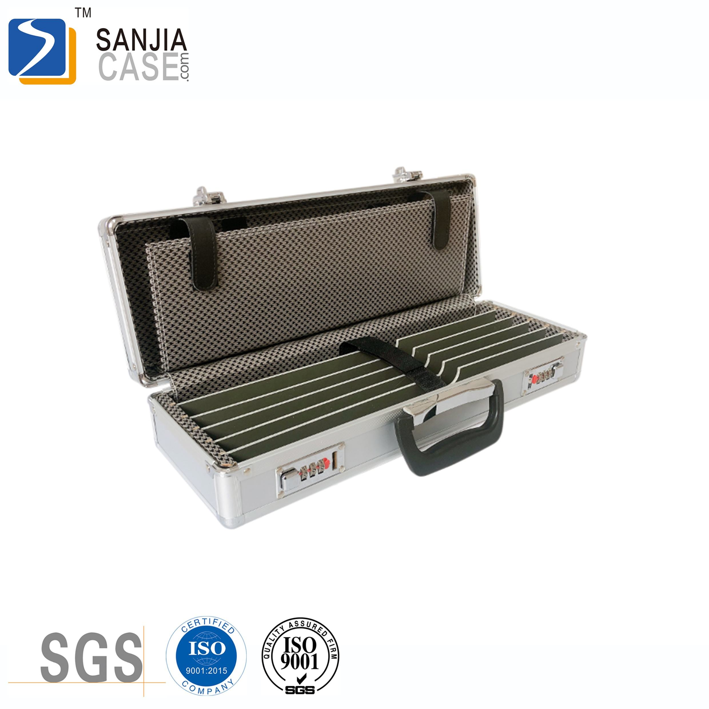 High Quality Lockable Sword Knife Storage Hard Case Eva Aluminum Tool Box