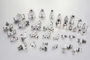 PGT series Pneumatic Connectors Tee type Quick Connection Pipe Tube Fitting