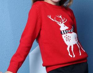 sale cheap baby children kids girls knit reindeer christmas jumper sweaters