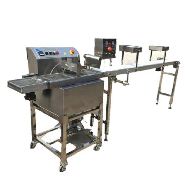 Chocolate Spraying Machine Panning Machine Enrober for Hot chocolate enrobing candy bar production line