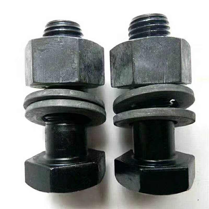 Directly hex lag bolts manufacture Plain black hex bolt and nut