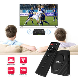 Pengiriman Cepat Amlogic S905W 2Gb Ram 16Gb Rom Tv Box Android 9 Set Top Box Iptv dengan YouTube netflix