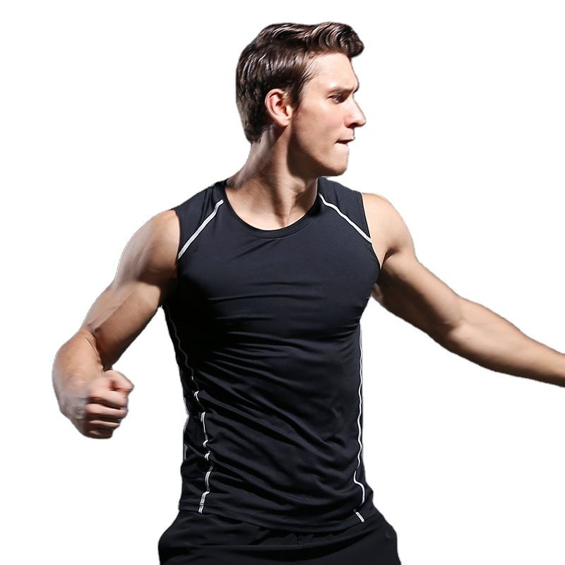 Men Gym Top Tank Quick Dry Blank Sleeveless t shirt 94% Polyester 6% Spandex Sport Singlet