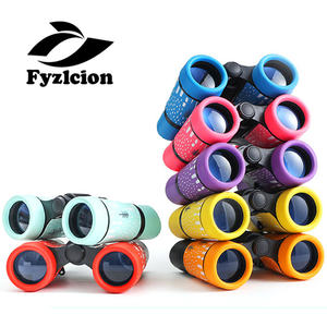 Children Colorful Binoculars Fixed Zoom Anti-skid Portable 4x30 binoculars
