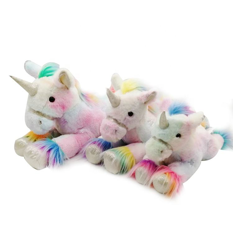 "OEM factory high quality materials customized soft stuffed animal plush unicorn toys 12""L"