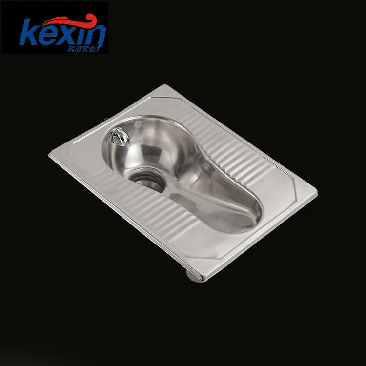 Standard Size Stainless Steel Toilet S-trap Toilet Urinal Squatting Pan