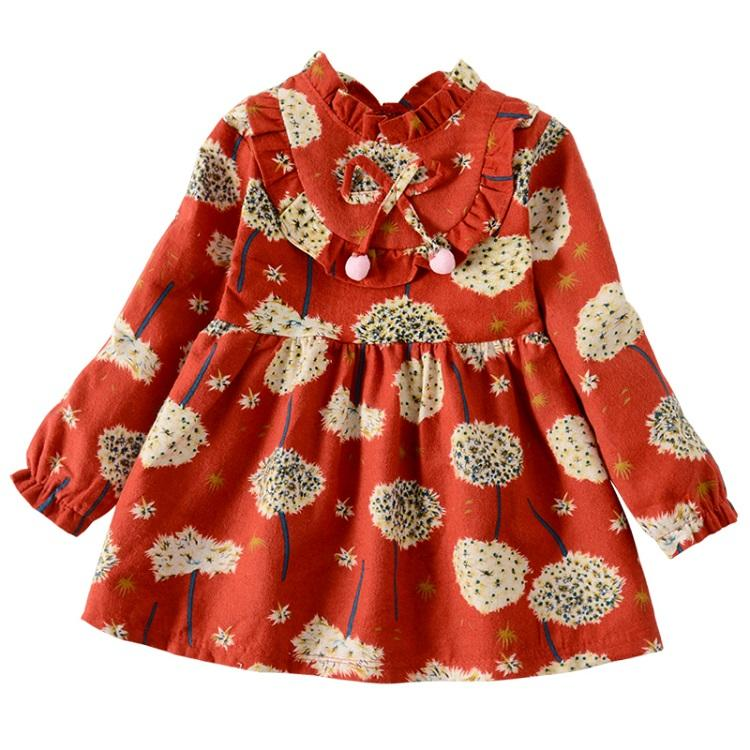baby girls printed dress boutique clothing children 1-4 years girl baby dresses