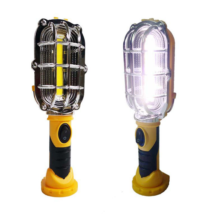 Hanging Hook Super Bright Portable Repair Inspection LED Worklight Lamps 3xAA Dry Battery Handy Cordless Work Light