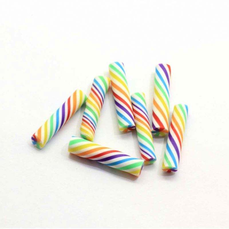 Marshmallow Candy Stick Stroh 25mm <span class=keywords><strong>Polymer</strong></span> Clay Candy Canes Candy Stick Flocke Dekor Scrap booking Ohrringe Zubehör