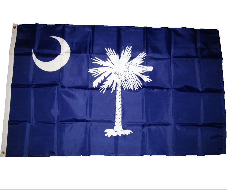 customized print 3x5ft 100% polyester banner USA state South Carolina flag
