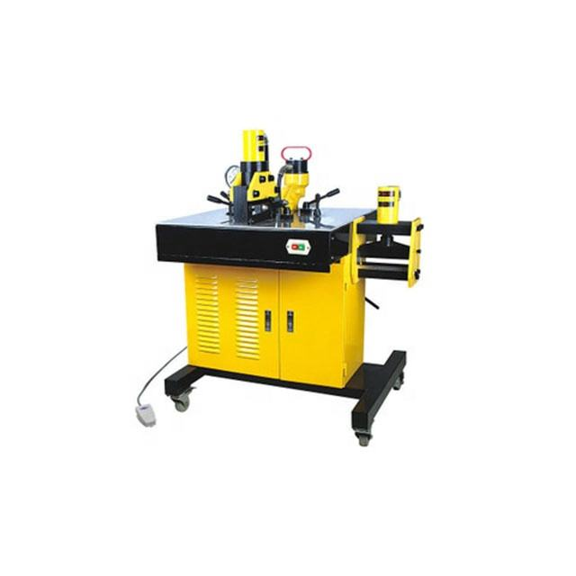 220v Multi functional copper processing bus bar machine Foot operated cutting punching bending dealing device